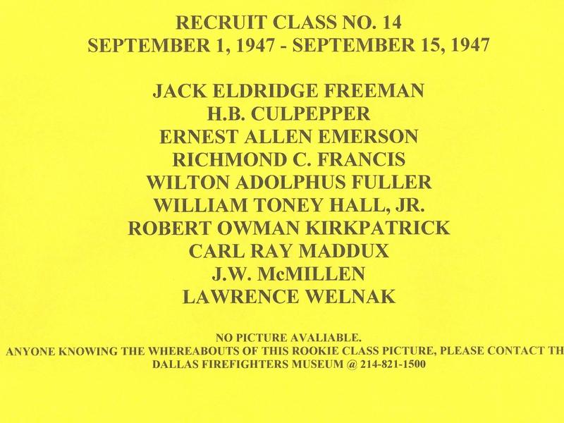 DFR Recruit Class 014 Info