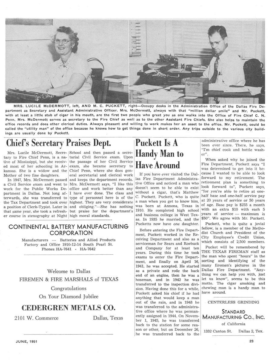 1951 Texas Fireman page 23