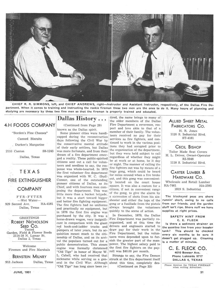 1951 Texas Fireman page 31