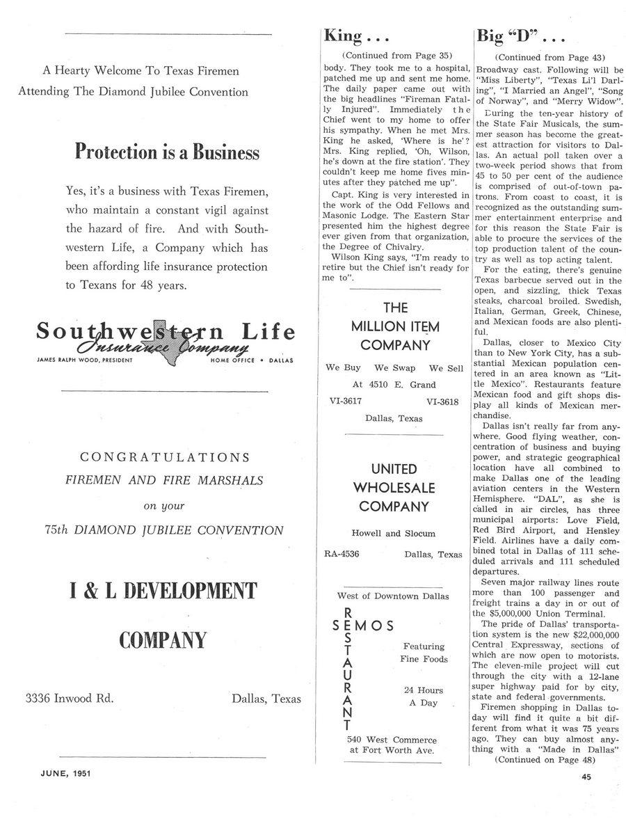 1951 Texas Fireman page 45