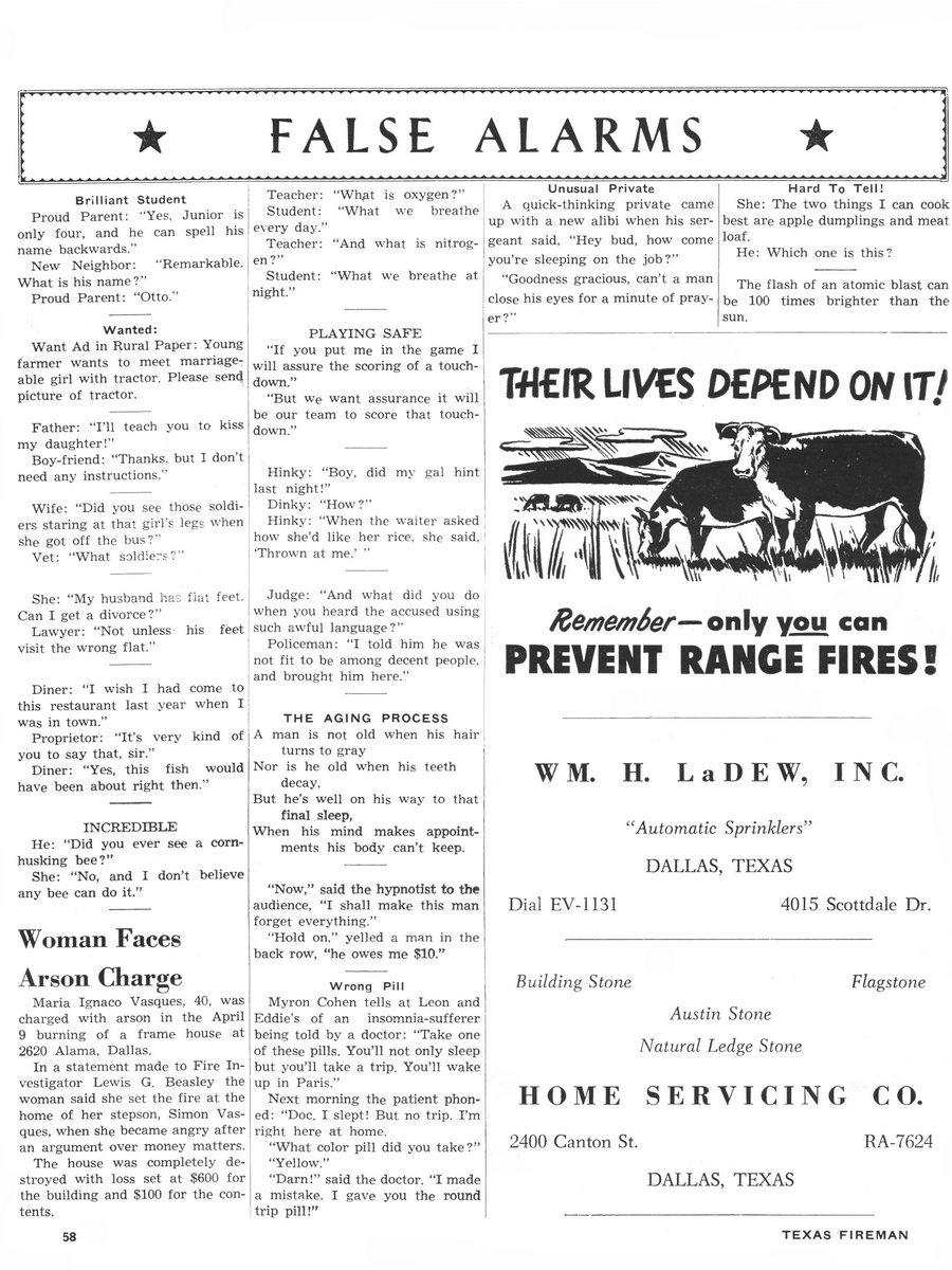 1955 Texas Fireman page 58