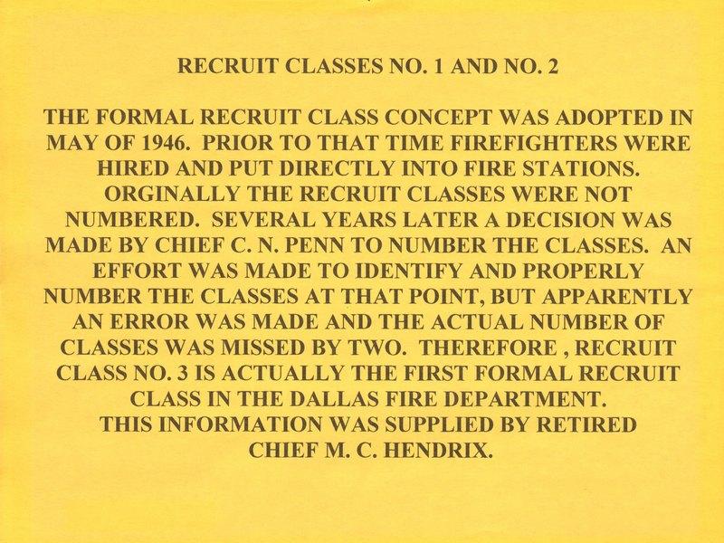 DFR Recruit Class 001 & 02 Info
