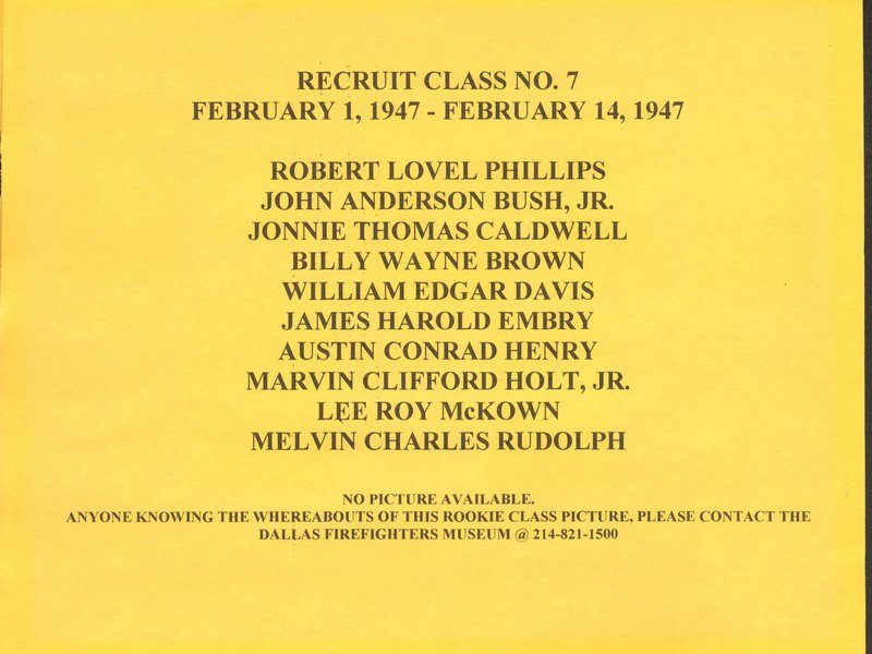DFR Recruit Class 007 Roster