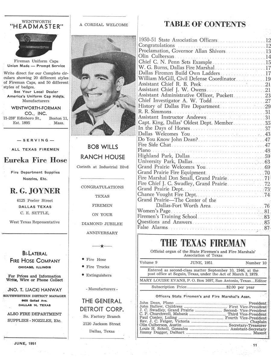 1951 Texas Fireman page 11