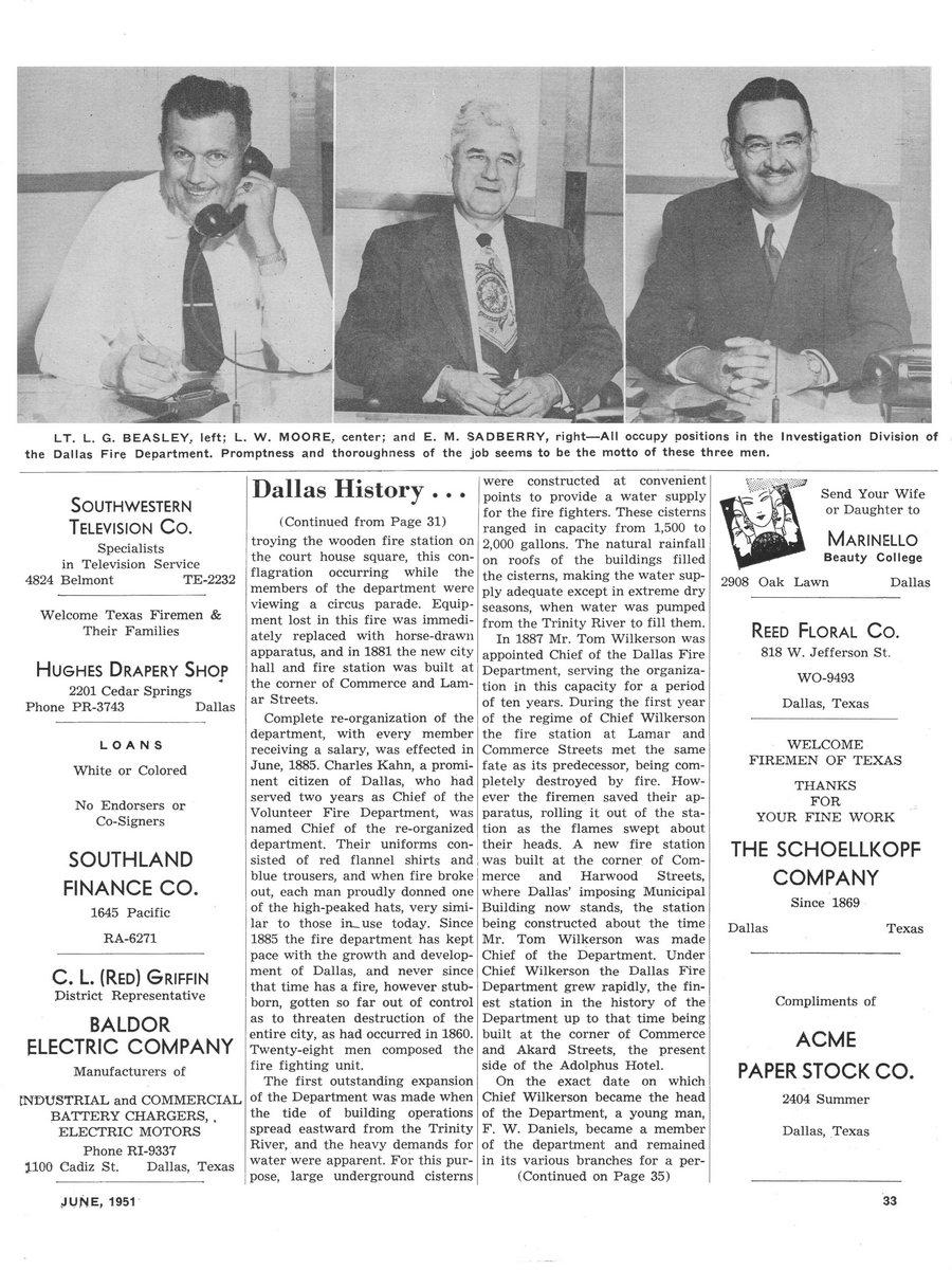 1951 Texas Fireman page 33
