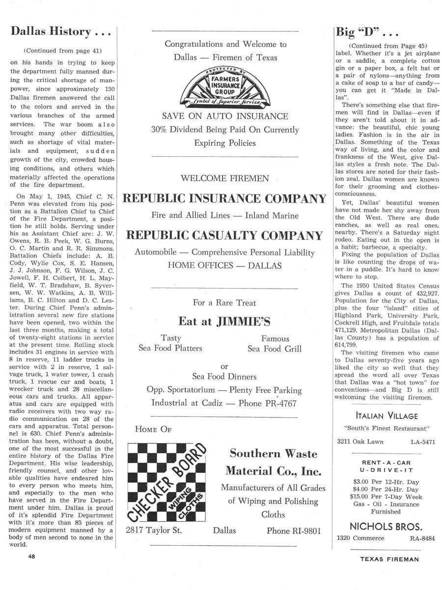 1951 Texas Fireman page 48