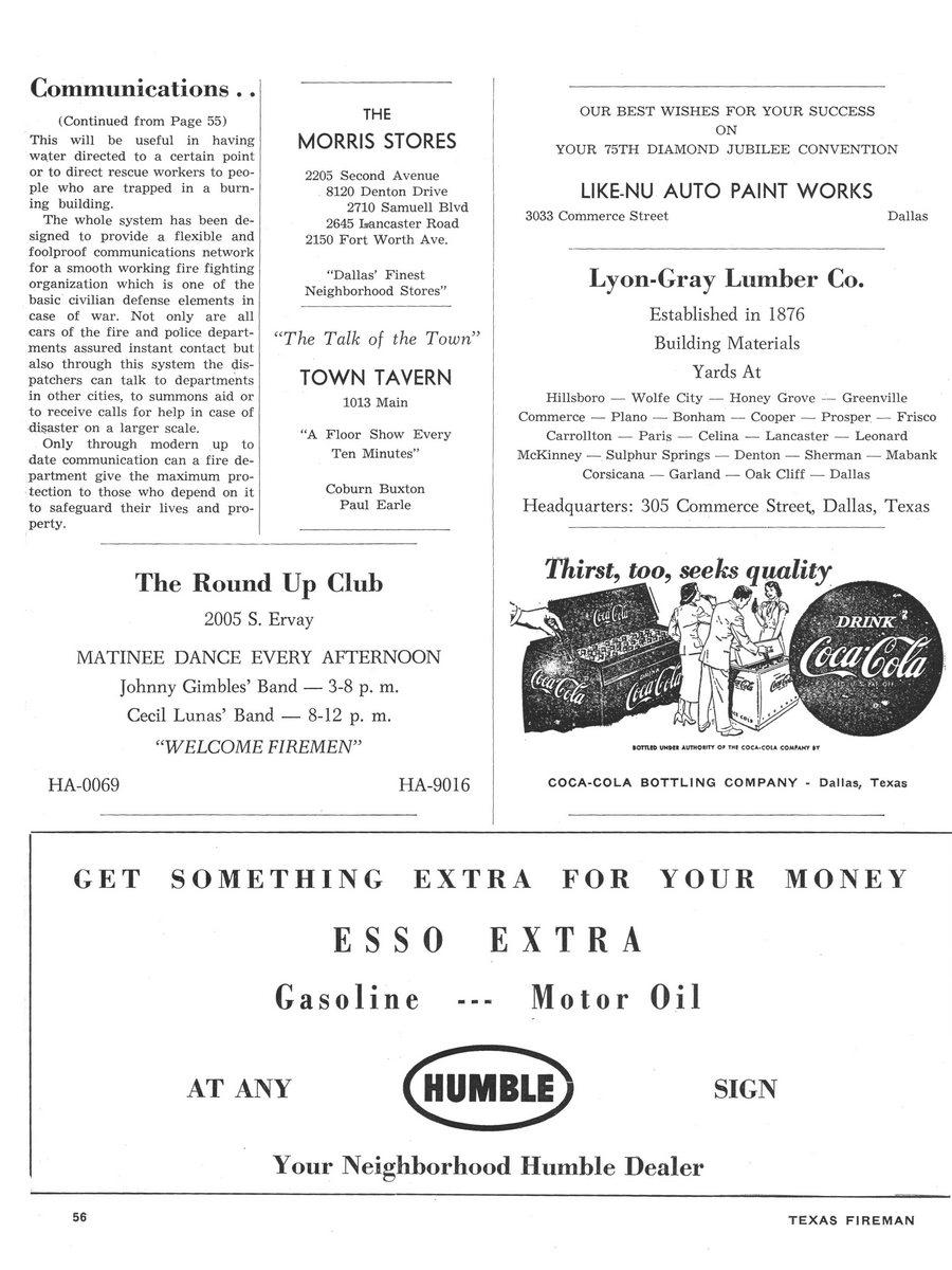 1951 Texas Fireman page 58