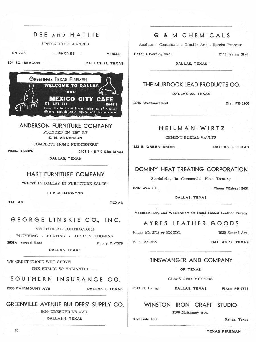 1955 Texas Fireman page 20