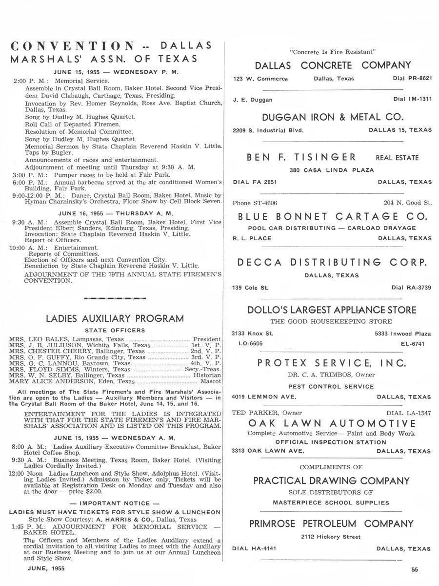 1955 Texas Fireman page 55