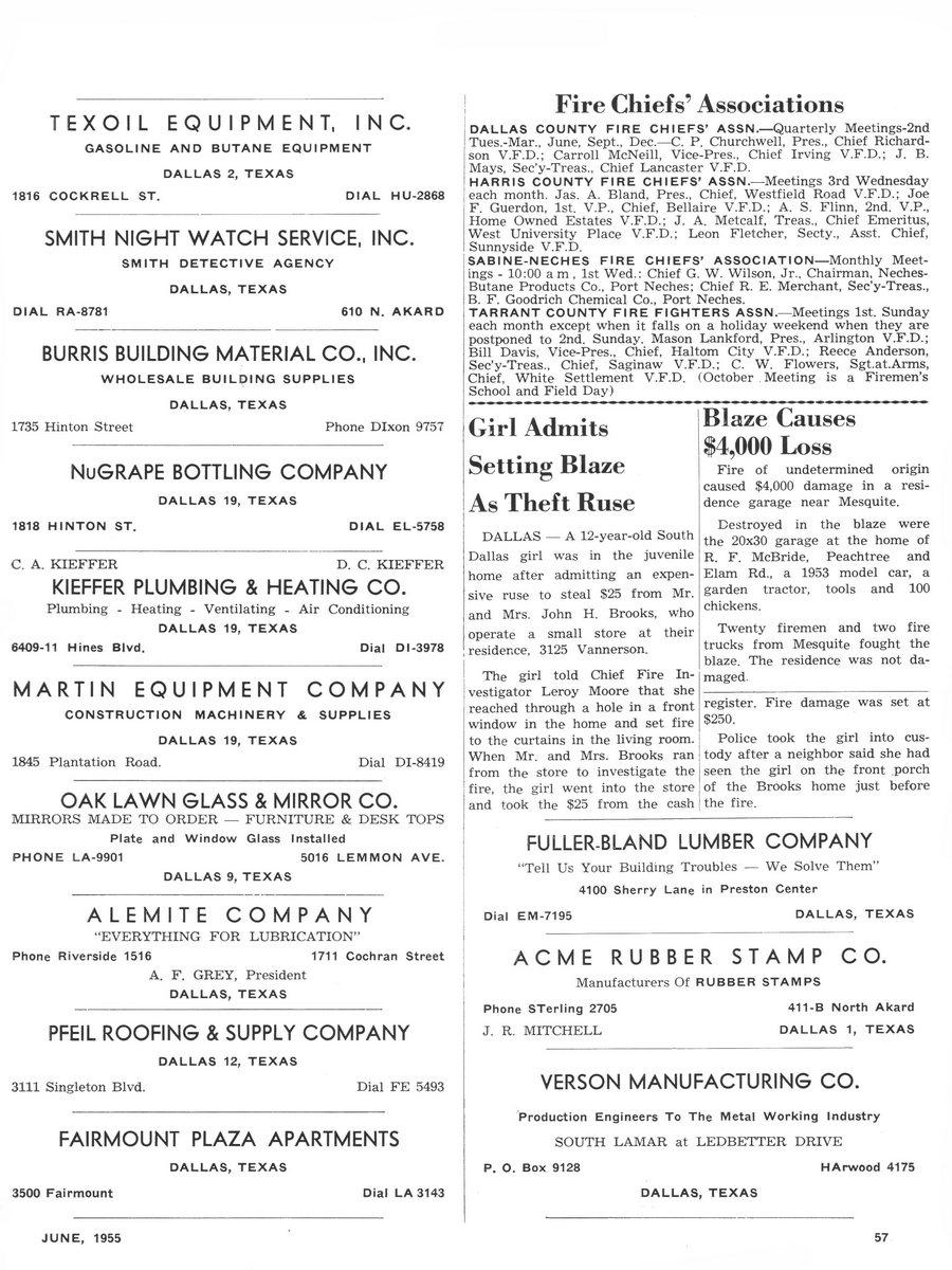 1955 Texas Fireman page 57